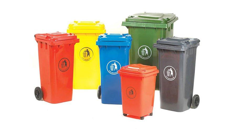 Cor de saco de lixo para cada material dispensado