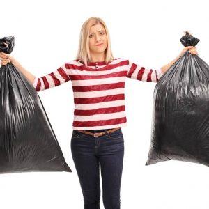 Utilizar sacos de lixo