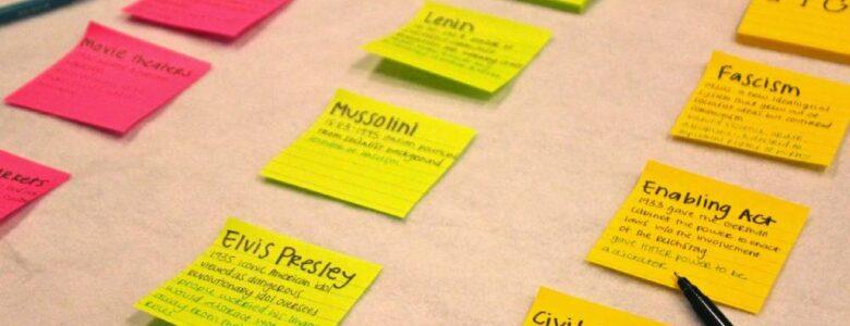Post-it para organizar objetivos